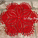 Simple Red  Doily pattern