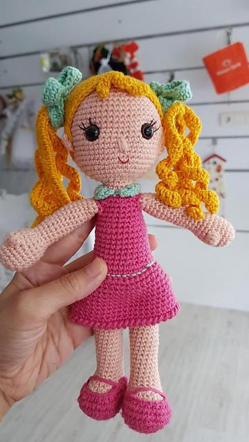 Watermelon Dress For Mia Doll - HavvaDesigns CROCHET Baby Doll ... | 640x360