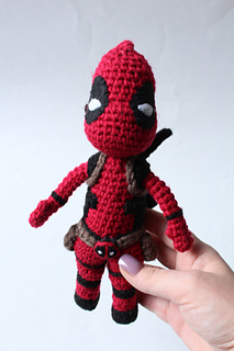 Chibi superheroes. I used the free pattern for Deadpool and made ... | 320x213