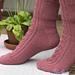 Raspberry Delight Socks pattern