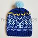 Sailor Mercury Fair Isle Hat pattern