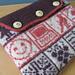 Pochette feutrée sampler pattern