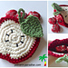 Back-to-School Apple Coasters & Pouch pattern