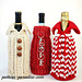 Holiday Bottle Sweater Gift Bag Cozy pattern