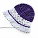 Violet Blooms Sun Hat pattern
