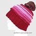 Be Mine Messy Bun Hat pattern