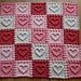 Heart Motifs Baby Blanket pattern