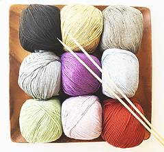 Bambon, a super soft DK weight yarn in a 60% cotton and 40% bamboo available at Yarnz2go