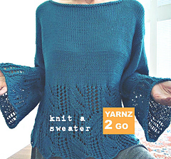 The High notes sweater by PetraBreakstone was knitted with Bambon