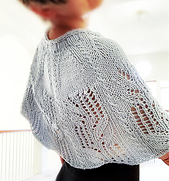 """Cowl version in the 36"""" size, knitted in Yarnz2go's Powder blue  Bambon yarn."""