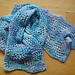 Crazy Check alpaca scarf pattern
