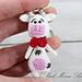 Cute Cow Key Chain pattern