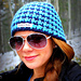 Houndstooth Beanie (Reversible) - Adults pattern