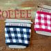 Gingham Coffee Cozy pattern