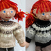 Circular Yoke Sweater for Arne & Carlos dolls pattern
