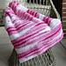 F695 Textured Baby Throw pattern