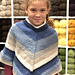 F829 Girl's Poncho pattern