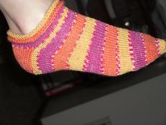 rolled cuff sock
