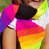 Child's Striped Scarf