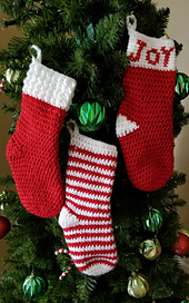 Petite Party Christmas Stocking -- Red