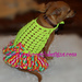 Halter Dog Dress with Flirty Skirt - For All Size Dogs pattern