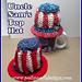 Uncle Sam's Top hat - Patriotic Hat pattern