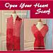 Open Your Heart Scarf pattern