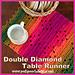 Double Diamond Table Runner pattern