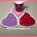 Valentine Coasters pattern