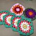 Cluster Flower Granny Scarf pattern