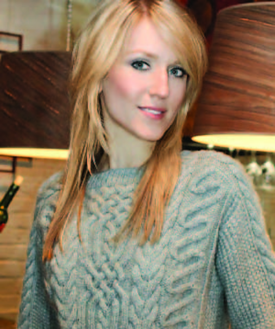 LOVELY LACE CARDIGAN SWEATER to KNIT by JANET SZABO