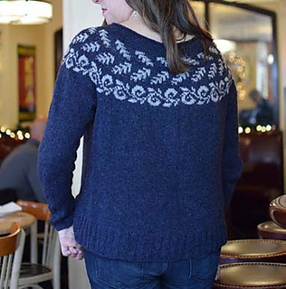 Enwreathed Pullover by Kathleen Dames