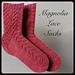 Magnolia Lace Socks (Cuff Down) pattern