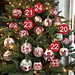 Advent Calendar 2020. 24 Christmas Balls pattern