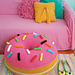 Giant Donut Floor Pouf pattern