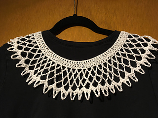 Customer photo: created with a double strand of crochet thread a couple rounds of mesh omitted. Love it!