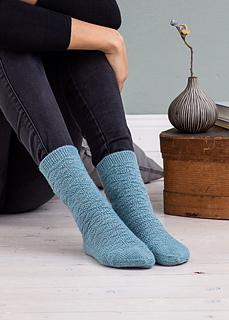 Garonne Socks knitted in REGIA 4-ply Col 1844 could mel.
