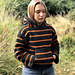 Cozy Campfire Striped Hoodie pattern