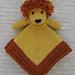 Mini Lion Lovey Blankie pattern