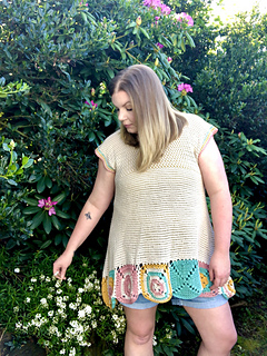 Lyndsey - Yarn Bee Bamboo-Tiful Yarn - XL added rows