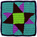 Square 13: Double Friendship Star pattern