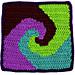 Square 16: Snail's Trail pattern