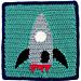 Square 25: Rocket pattern