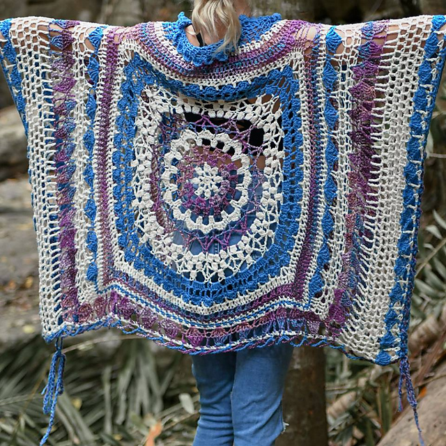 Desert Dreams Poncho by Fiona Langtry