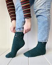 Optional detailing near the cuff can make the Mullinger Socks just a little feminine
