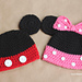 Mickey and Minnie Mouse Hats pattern