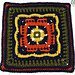 Persephone's Garden At Night Afghan Square pattern