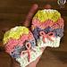 Rainbow Shells Newborn Hat and Mitt Set pattern