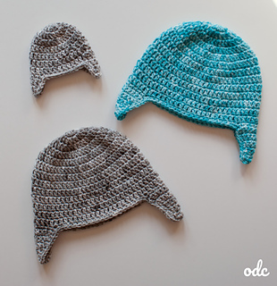 Easy Double Crochet Ear Flap Hat - Free Pattern from Oombawka Design. Available in sizes preemie to adult large.