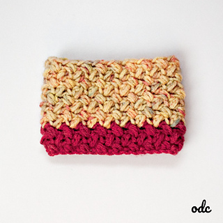 Baby Bean Stitch Coffee Cup Sleeve, Oombawka Design Crochet, Stashbuster #1